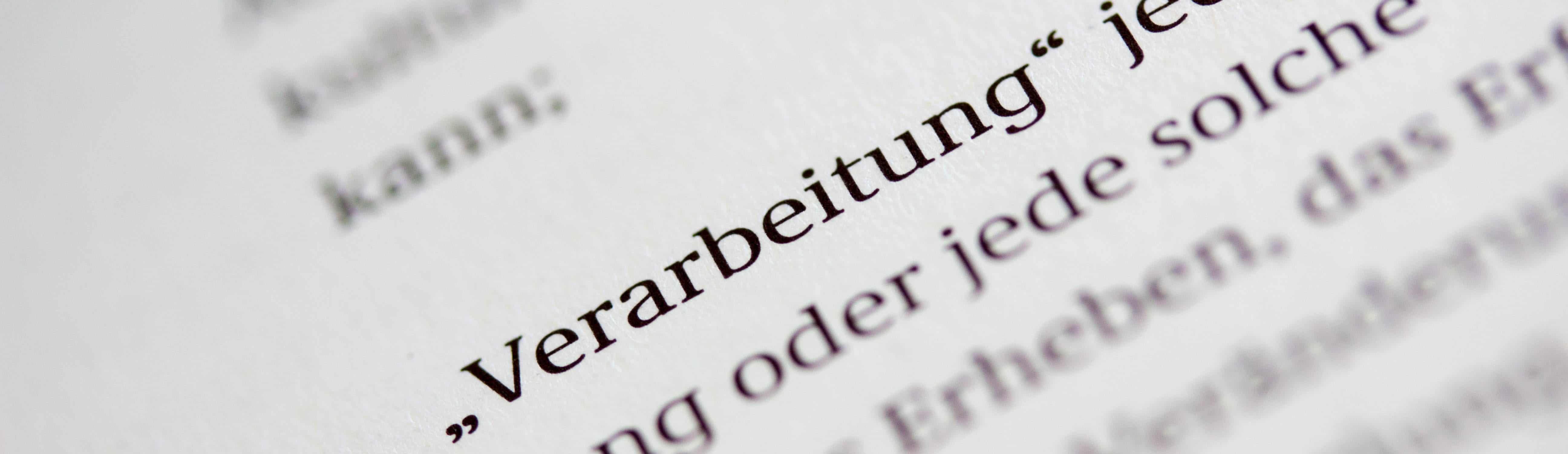 Artikel 4 DSGVO Definition einer Verarbeitung Nahaufnahme