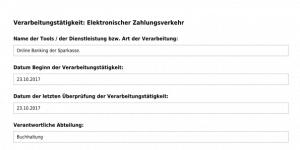 Verarbeitungstätigkeit Elektronischer Zahlungsverkehr DSGVO Tool PDF