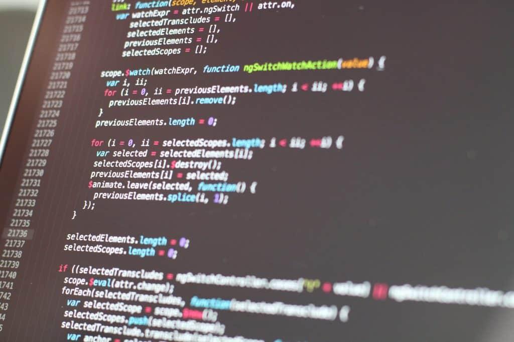 Bildschirm mit Code - die Erstellung von TOMs