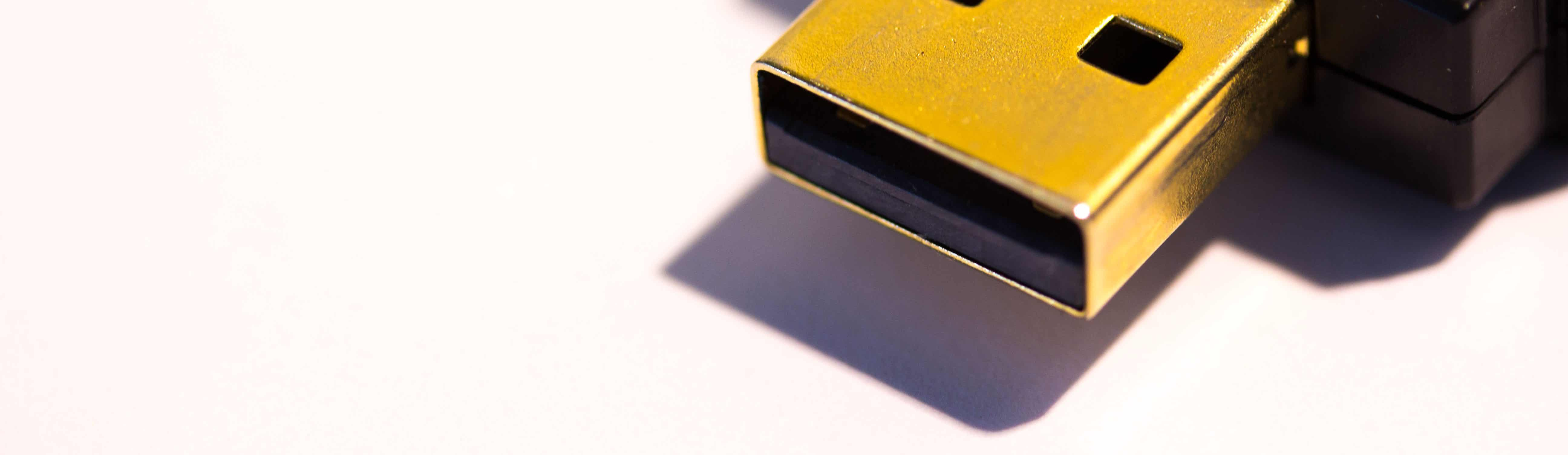 USB Stick Nahaufnahme.