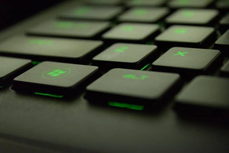 Tastatur auf der ein Datenschutzkonzept verfasst wurde.