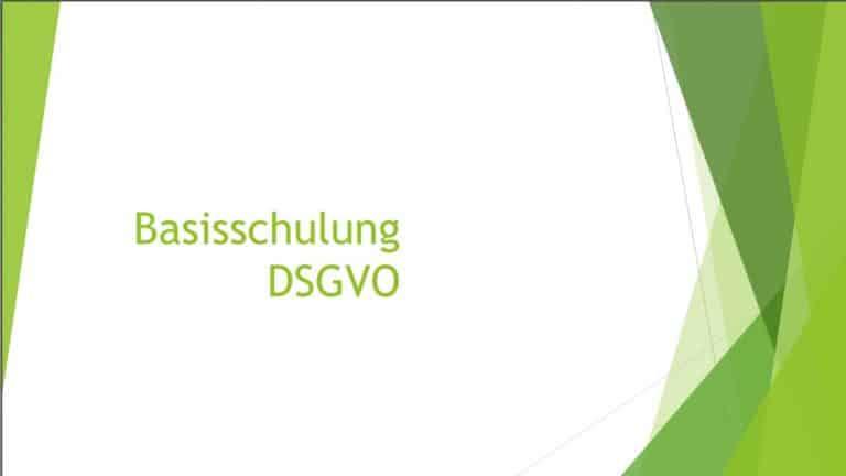 PowerPoint Vorlage für eine Mitarbeiterschulung nach DSGVO