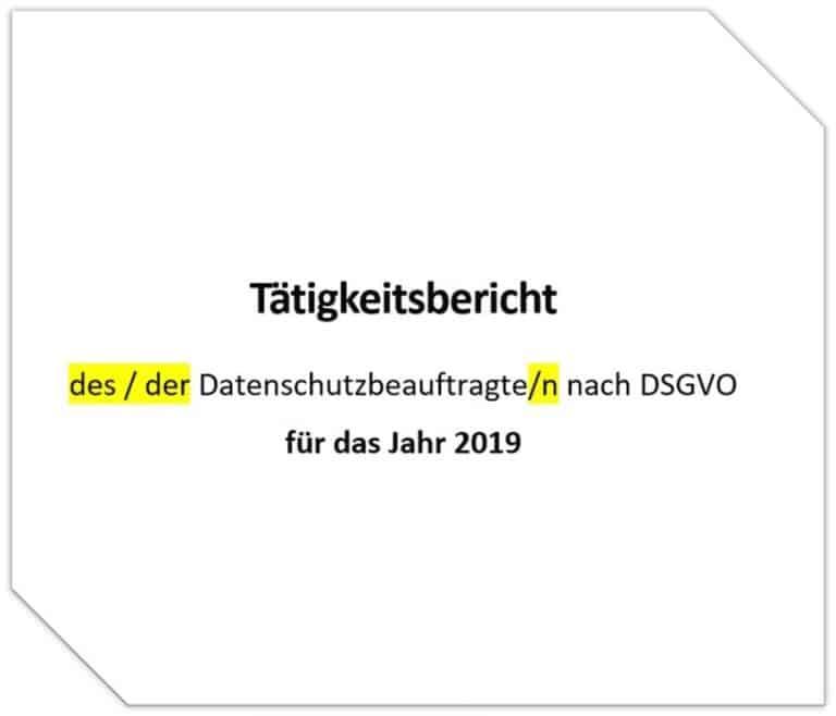 Download Muster DSGVO Tätigkeitsbericht Rechenschaftsbericht