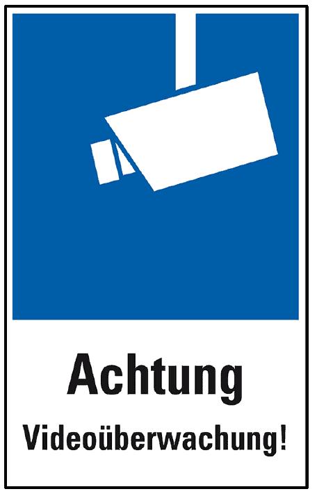 Ein Piktogramm für die Vorlage für ein Hinweisschild zur Videoüberwachung.