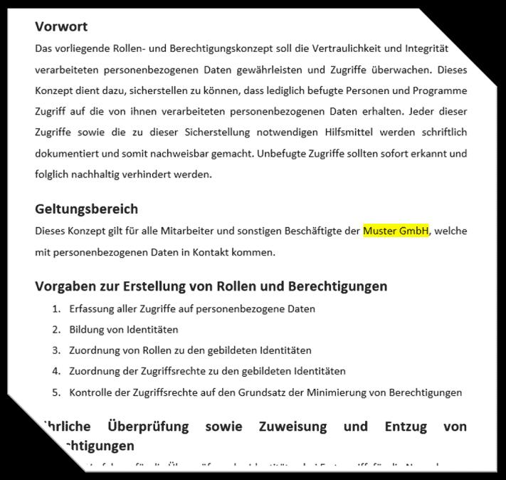 Hier downloaden, kostenloses Berechtigungskonzept nach DSGVO.